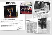 """26 year-old Mel was appointed to head Sky Cable. Messages of Eugenio Lopez Jr., Chairman of Sky Cable, ABS-CBN Broadcasting Co., Benpres and Lopez, Inc. """"You are the best in the industry…it was you, with the team you led, who are the most responsible for the success of Sky. I assure the best is yet to come."""" delivered in a video tape message in the occasion of Mel's 33rd birthday (1996). """"During your ten years or so with the company, you have never gotten involved in any situation that could have tainted your integrity. I wish you well. Best personal regards."""" sent to Mel in a letter before Mr. Lopez Jr. passed on."""
